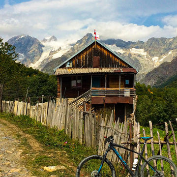 Mountainbiking in a mountain areas of Svaneti and Racha